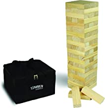 Giant Timber - Large Size Wood Game - Ideal for Outdoors - Perfect for Adults, Kids 60 XL Pcs 6 x 2 x 1.2 Inch - Over 4 Fe...