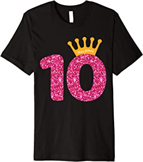 Happy Birthday Shirt, Girls 10th Party 10 Years Old Bday