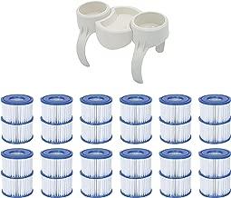 Bestway Plastic SaluSpa Drinks Holder and Snack Tray & Type VI Filters (24 Pack)