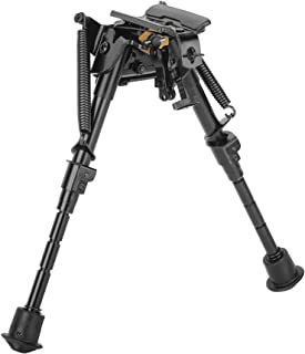 Caldwell XLA Fixed Sling Stud Bipod with Fast Expand Legs, Non-Slip Feet and Notched Legs for Outdoor, Range, Shooting and Hunting