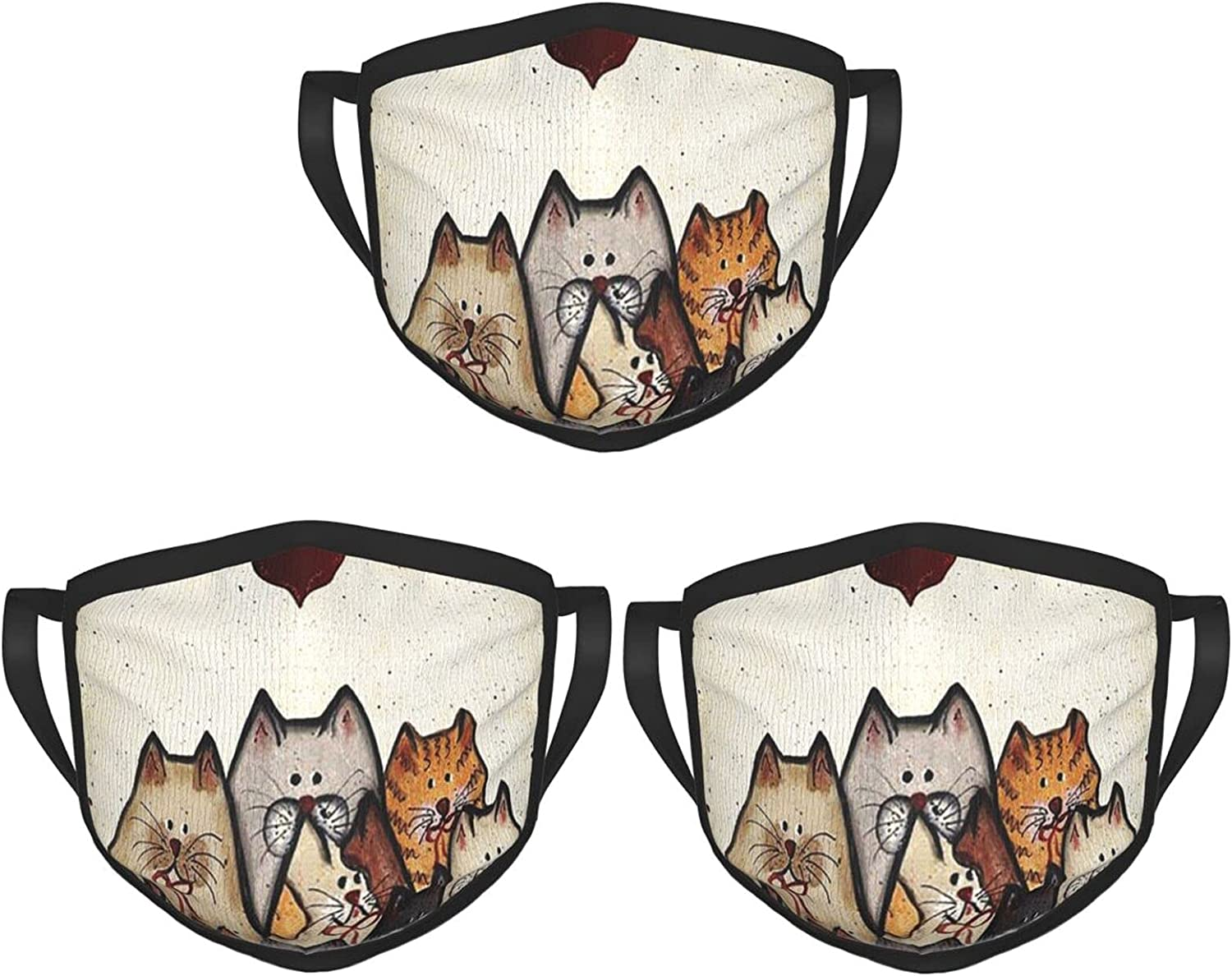 Balaclava Earmuffs Every Life Shuld Have 9 Cats Heart Face Mouth Cover Mask Reusable Washable Scarf Towel Cover Headwrap