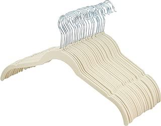 AmazonBasics Velvet Shirt Dress Clothes Hangers, 30-Pack, Ivory/Beige