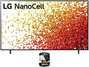 LG 65NANO90UPA 65 Inch 4K Nanocell TV 2021 Model Bundle with Premium 2 Year Extended Protection Plan