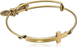 "Alex and Ani Spiritual Armour Cross Expandable Wire Bangle Bracelet, 7.75"""