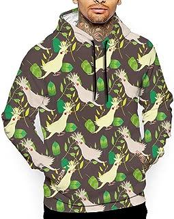 Unisex Cockatoo Pattern Hoodies Personalized Pullover Hood Jackets Sweatshirt