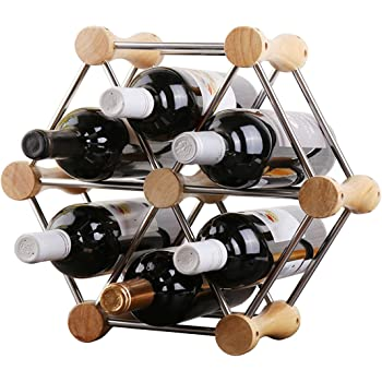 Hundred-Variable Styling, Arbitrary Assembly of Classic Style Bottle Wine Racks-Perfect Bars, Cellars, Basements, Cabinets, Food Cabinets, etc.-Hold 6 Bottles
