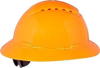 3M Full Brim Hard Hat H-807V, 4-Point Ratchet Suspension, Vented, Hi-Vis Orange