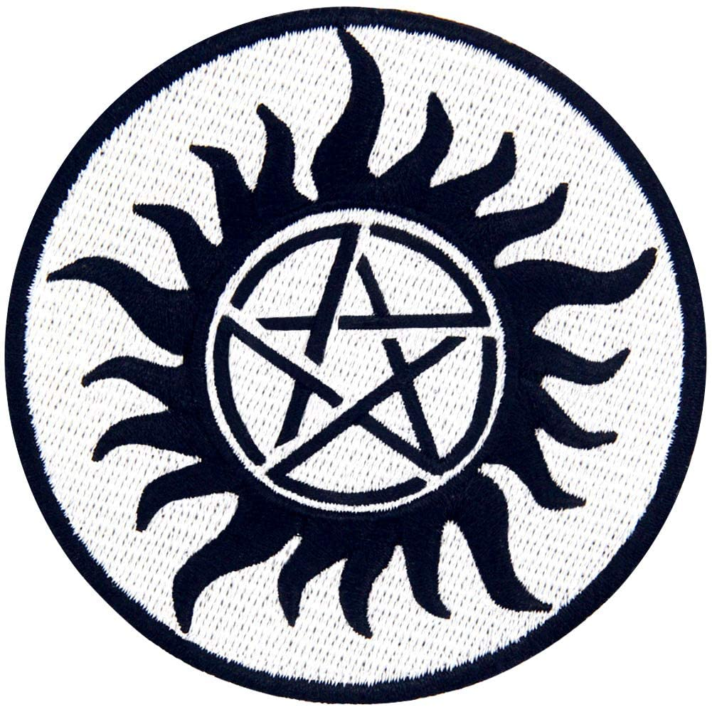 Protection Symbols Against Demons Patch Embroidered Applique Iro