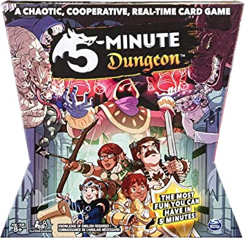 Spin Master 5 Minute Dungeon A Chaotic Cooperative  Real-Time  Card Game New
