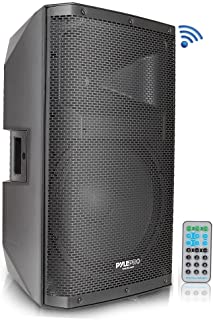 Bluetooth PA Monitor Speaker System - 1400 Watt Max 2 Way Indoor Outdoor Stage Loudspeaker w/ 15 Inch Subwoofer, 1.75