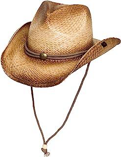 Peter Grimm Mens Straw Round Up Cowboy Hat