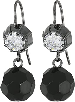 Hide and Chic Faceted Stone Double Drop Earrings