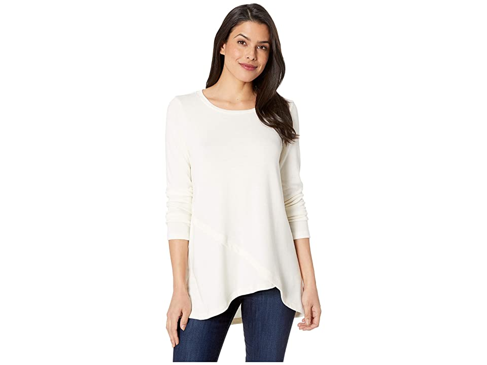 Karen Kane Long Sleeve Crossover Sweater (Cream) Women