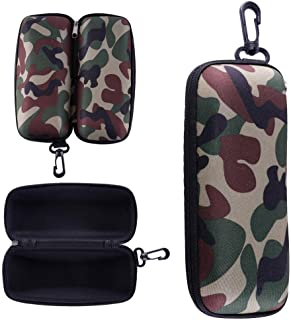 Niome Portable Outdoor EVA Zipper Camouflage with Hook Clasp Eyeglasses Sunglasses Case Holder Box