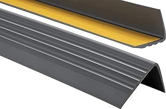 ProfiPVC Zelf klevende PVC trap neus - trapprofiel van getest PVC, anti-slip, 50x40mm 200cm, Antraciet