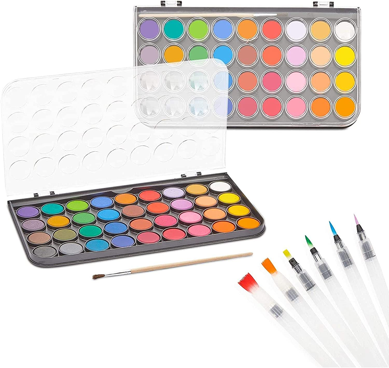 Watercolor Painting Popularity Limited time sale Set with Brushes Pens 36 and Paint Colors