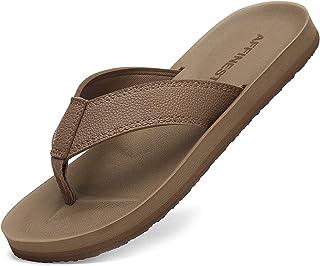 AFFINEST Tongs Hommes Femmes été Cuir Sandales Plage Piscine Chaussures Légères Confort Doux Classique Flip Flop Antidérap...