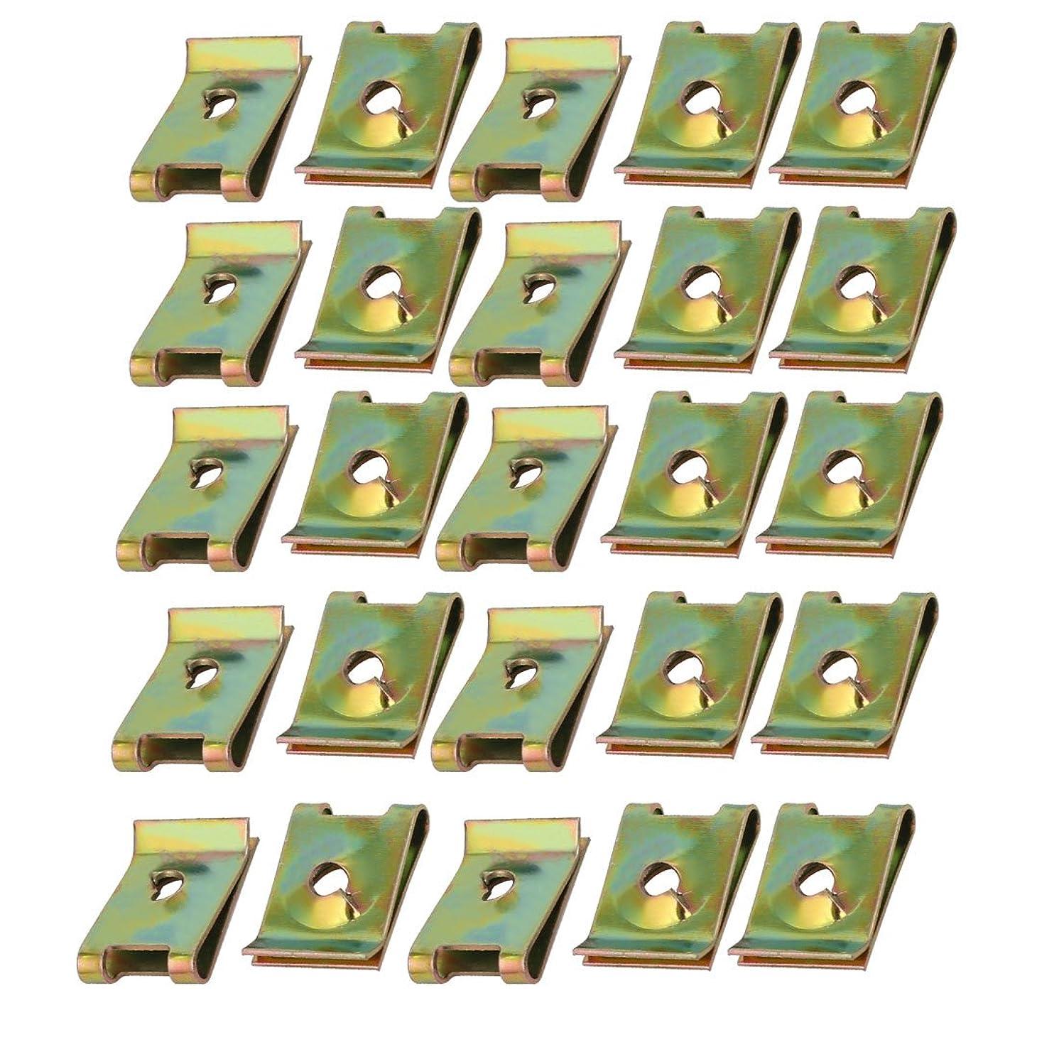 ありふれたミキサーパックuxcell Uクリップ Uナット スピードファスナー スプリングスチール M4 / ST4.0ねじボルト用 25個入り