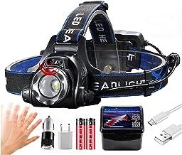 YINGNBH Hoofd Torch Nieuwste IR Sensor Koplamp Krachtige Koplamp T6/L2/V6 USB Oplaadbare Vissen Hoofd Lamp Torch Zoom Wate...