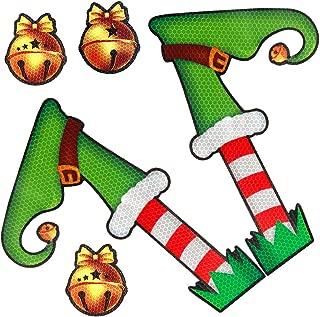 Coogam Christmas Decoration – Elf Legs Magnetic Reflective Decal for Car Fridge Garage Mailbox Vehicle Truck Xmas Holiday Décor (5 PCS)