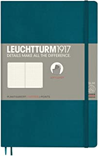 Leuchtturm1917 Softcover B6+ Dotted Notebook - Pacific Green