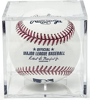 THE ORIGINAL BALLQUBE UV Grandstand Baseball Display Case Square
