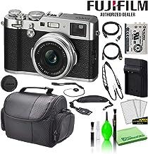 Fujifilm X100F 24.3MP Point & Shoot Digital Camera (Silver) (16534584) USA Model Bundle with Large Camera Bag + Lens Cap K...
