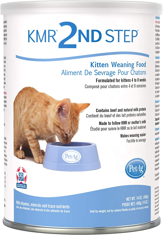 Amazon Com Petag Kmr 2nd Step Kitten Weaning Food 14oz Pet Milk Replacers Pet Supplies