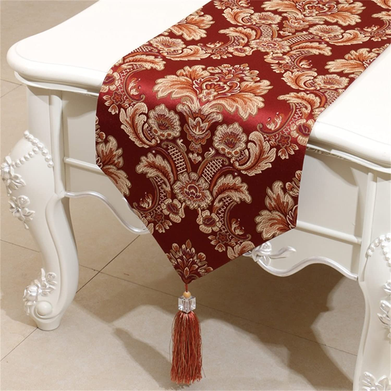 Shopping Table Runner American fashion simple European Mediterranean bed flag ( color   Wine Red , Size   33300cm )