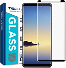 Tech Armor 3D Curved Ballistic Glass Screen Protector for Samsung Galaxy Note 8, CASE-Friendly, (Black) [1-Pack]