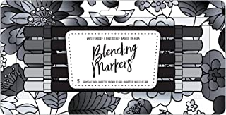 American Crafts 343250 Greyscale Blending Markers