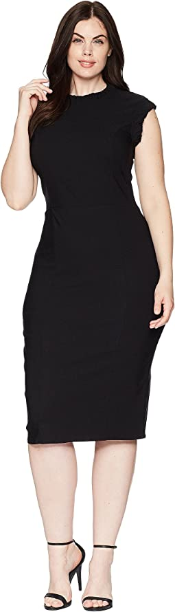 Plus Size Cap Sleeve Laverne Wiggle Dress