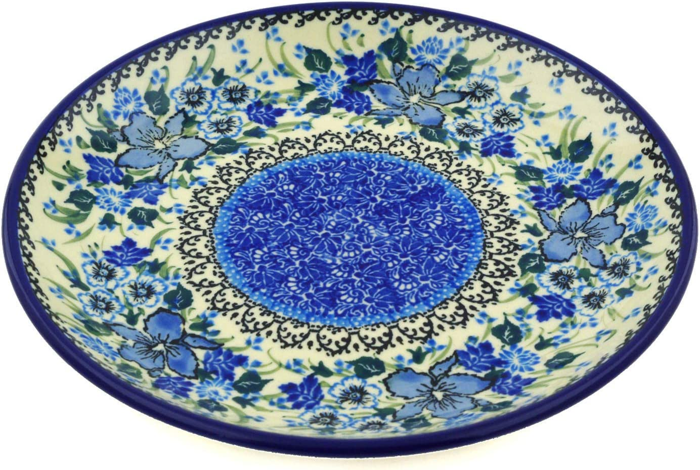 Outlet SALE Polmedia Polish Pottery 8-inch Stoneware Free shipping H6418E Paint Plate Hand