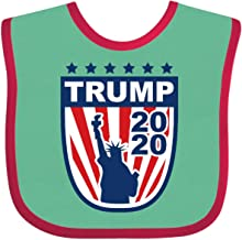 Inktastic Trump 2020 Liberty Baby Bib Green and Red