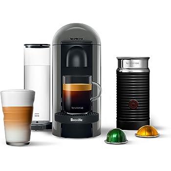Nespresso VertuoPlus Coffee and Espresso Machine by Breville with Aeroccino, Grey