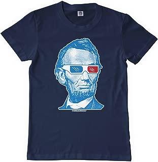 Big Boys' Abraham Lincoln 3D Glasses Youth T-Shirt