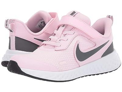 Nike Kids Revolution 5 (Little Kid) (Pink Foam/Dark Grey) Girls Shoes