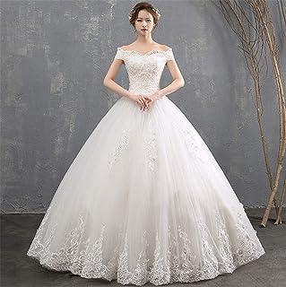 Wedding Dresses Evening Dress Women's Backless Lace Bridesmaid Dress Elegant Princess Long Bridal Gown White Dinner L