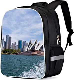 Sydney Opera House Famous Music Building City Landscape Print Durable Casual Backpack Back to School Book Bag