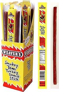 "Weaver's Smokey Toms Turkey Snack Sticks (32 mild flavored 10"" turkey sticks per 32oz box)"