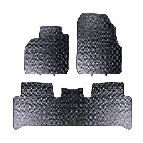 Mossa Alfombrillas de goma - 3-piezas - un ajuste perfecto - negro - 5902538449106