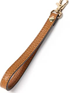 Wristlet Strap, Genuine Leather Keychain Wristlet KeyChain Hand Strap for Wallet Purse Clutch Cellphone Wristlet Key