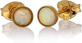 Orecchini in opale 14K Gold Filled 4mm White Opal Stone
