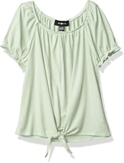 Amy Byer girls Tie Front Square Neck Top Blouse