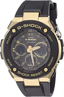 Casio G-Shock Men Black Resin Casual Watch - Gst-S300G-1A9Dr, Analog Display