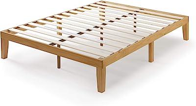 Bed Frame Queen Size Base Mattress - Zinus Moiz - Solid Wooden Pine Wood | 5 Years Warranty