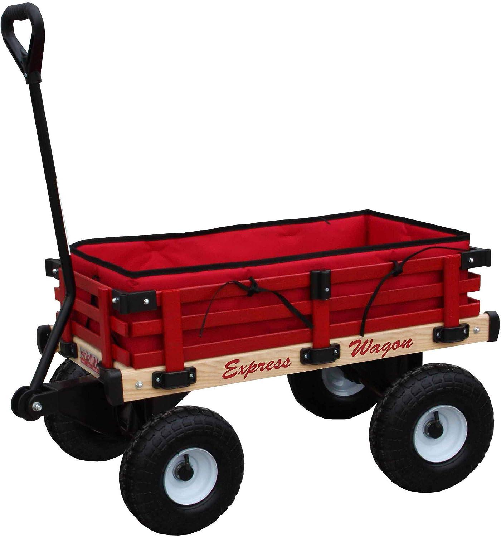 Cheap sale Millside Superlatite Industries Wooden Express Wagon 10 Inch with Pneumatic