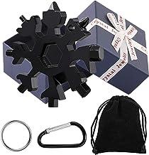 18-in-1 Snowflake Multi-Tool Stainless Steel Snowflake Multi-Tool Snowflake Tool Card Keychain Screwdriver, Bottle Opener ...