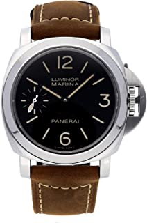 Panerai Luminor Mechanical (Hand-Winding) Black Dial Mens Watch PAM 466 (Certified Pre-Owned)