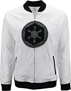 Men's Star Wars Galactic Empire White Zip Jacket Hoodie